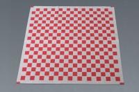 Hojas de papel cuadriculado rojo