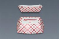 Charola de cartón rayada (15x10)