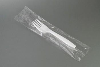 Tenedor blanco estuchado