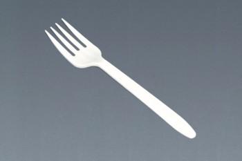Tenedor blanco mediano
