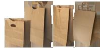 Bolsas papel Kraft con fondo automático