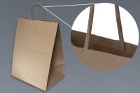 Bolsa Papel Kraft con asa cordón, fondo automático
